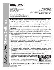 14045: 295SL100-series Siren (200 Watt) - Whelen Engineering