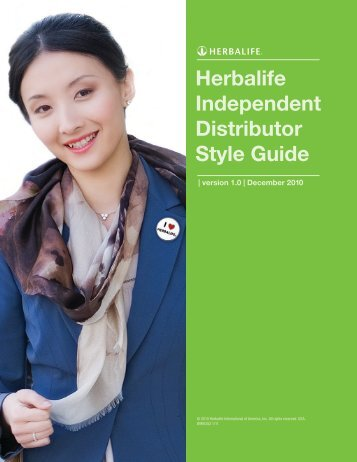 Herbalife Independent Distributor Style Guide