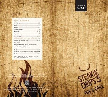 New menu, Steak Chops & More - Mcmanus Pub Company