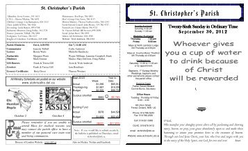 September 30, 2012 bulletin - Diocese of London
