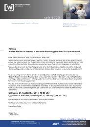Mittwoch, 21. September 2011, 19:00 Uhr - WJ Straubing
