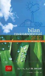 PDF Bilan Environnemental 2012 - CEA Saclay