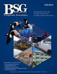 BSG Fall 2013 Newsletter - Bering Sea Eccotech