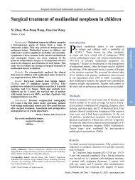 Surgical treatment of mediastinal neoplasm in children