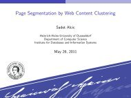 Page Segmentation by Web Content Clustering