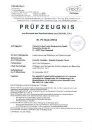 notified body 110.: l508 Mitglied der ä; - Caparol Farben AG