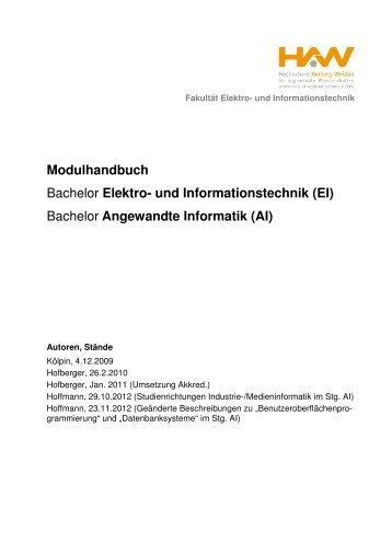 Fakultät Elektro- und Informationstechnik Modulhandbuch für die ...