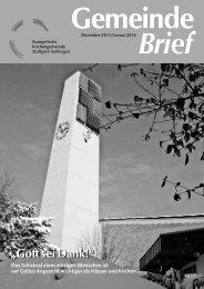 Gemeinde Brief - Evangelische Kirchengemeinde Stuttgart-Vaihingen