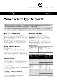 Whole Vehicle Type Approval - Freight Transport Association