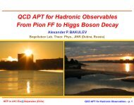 from pion form factor to Higgs boson decay