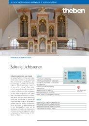 Beleuchtungssteuerung Pfarrkirche St. Joseph in Tutzing - Theben