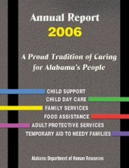 2006 - Alabama Department of Human Resources