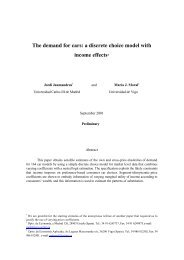 The demand for cars: a discrete choice model with income effects*