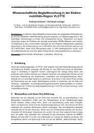 Wissenschaftliche Begleitforschung in der Elektro- mobilitäts-Region ...