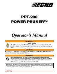 PPT-280 Operator's Manual - Echo Inc.