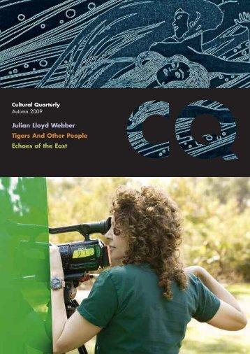 Autumn 09 - Cultural Quarterly Online