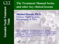 Cannabis Youth Treatment Trials - Chestnut Health Systems
