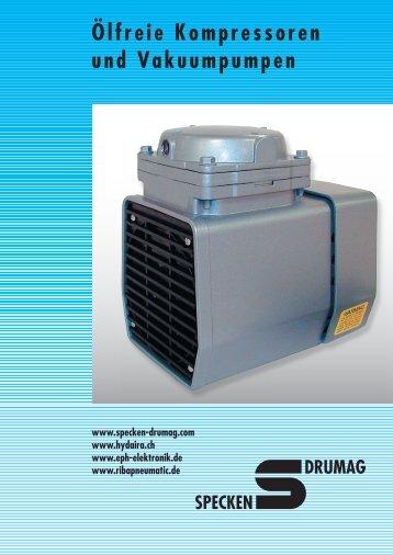 Ölfreie Kompressoren und Vakuumpumpen - Specken-Drumag