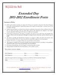 Extended Day 2011-2012 Enrollment Form - Cannon School - Page 3