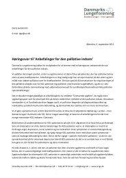 Høringssvar til 'Anbefalinger for den palliative indsats' - Danmarks ...