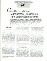Manure Management Practices on New Jersey Equine Farms