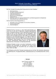 Prof. Schwab Consulting – Ingenieurbüro