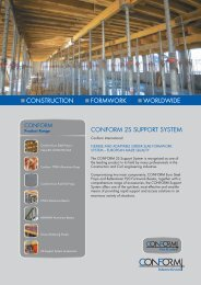 construction formwork worldwide conform 2s support system