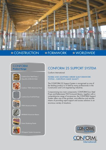 Conform Universal Formwork Ge Construction Formwork Worldwide