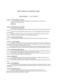 Reglement particulier de la ligue - Footeo