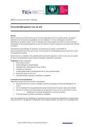 Financieel Management voor de arts