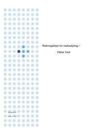 Retningslinjer for risikostyring i Helse Vest per februar 2012