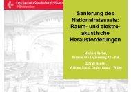 Sanierung des Nationalratssaals: Raum- und elektro- akustische ...