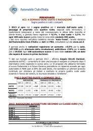 Comunicato stampa Autotrend febbraio 2013 - ACI - Automobile ...