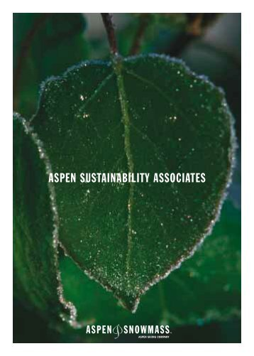 ASPEN SUSTAINABILITY ASSOCIATES - Aspen Snowmass