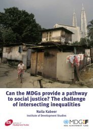 Can the MDGs provide a pathway to social justice? The ... - CBM