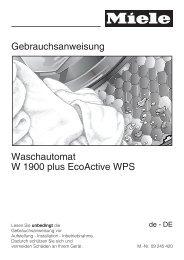 Gebrauchsanweisung Waschautomat W 1900 plus ... - Schwab