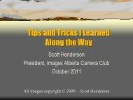 Scott's Photo Tips and Tricks - Images Alberta Camera Club