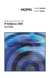 Nortel IP Softphone 2050 User Guide - Harbor Networks