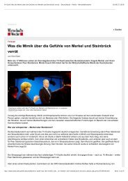 Was die Mimik über die Gefühle von Merkel und Steinbrück verrät