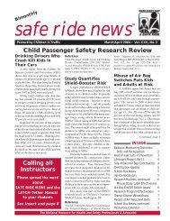 Child Passenger Safety Research Review - Safe Ride News
