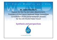 Les parlementaires - 6th World Water Forum