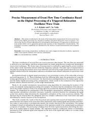 Precise Measurement of Event Flow Time Coordinates Based on the ...