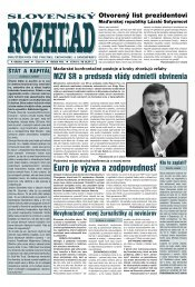 Euro je výzva a zodpovednosť - Slovenský rozhľad