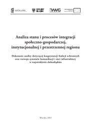 Analiza stanu i procesów integracji społeczno-gospodarczej ...