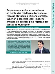 Despesas empenhadas superiores ao limite dos ... - Revista do TCE