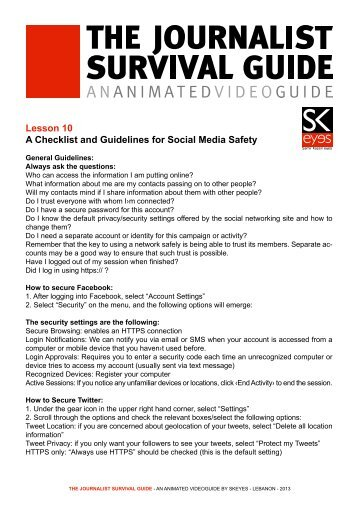 View in English - The Journalist Survival Guide