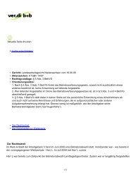 Druckansicht: ver.di b+b - Rechtsprechung - Archiv