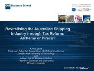 Revitalising the Australian Shipping Industry through Tax Reform ...