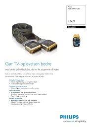 SWV3542/10 Philips Fladt SCART-kabel - ICEcat.biz