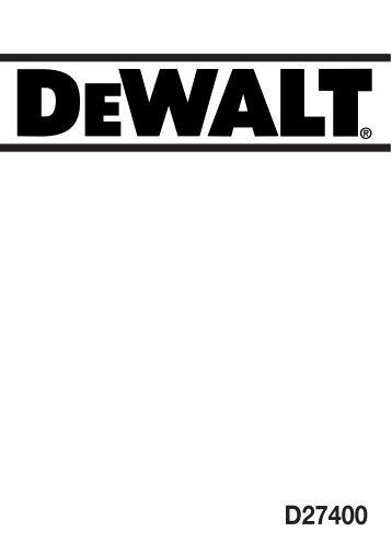 baustellensäge d27400/d27400t - Service - DeWalt